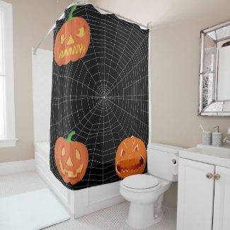 Spiderweb on Black... Shower Curtain