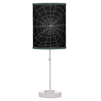 spiderweb on Black Table Lamp