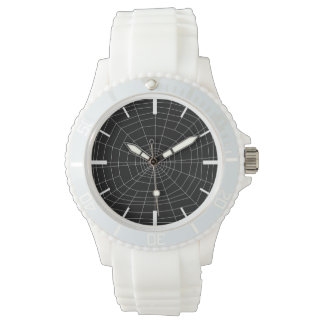 spiderweb on Black Watches