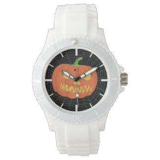 spiderweb on Black Wristwatch
