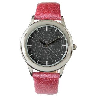 spiderweb on Black Wristwatches