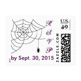 Spiderweb que casa RSVP Timbre Postal