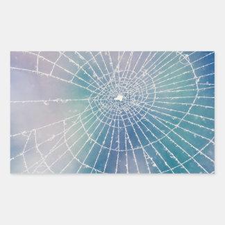 Spiderweb Rectangular Sticker