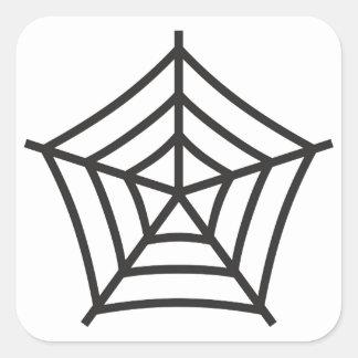 Spiderweb Square Sticker