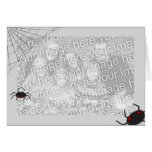 Spiderweb template greeting card