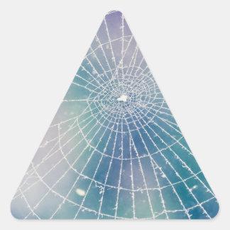 Spiderweb Triangle Sticker