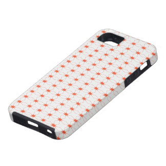 SpiderWeb White Orange iPhone SE/5/5s Case