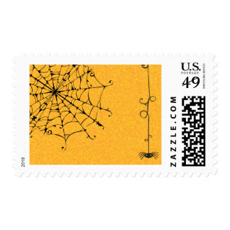 SPIDERWEB WITH SLINGING SPIDER POSTAGE STAMPS