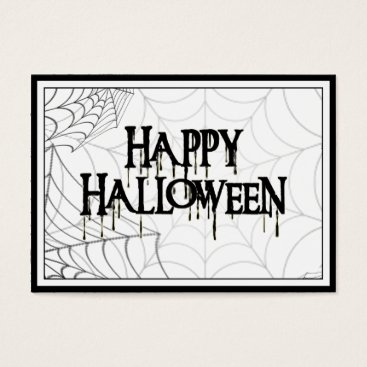 Fall_Seasons_Best Spiderwebs And Happy Halloween Creepy Text Business Card