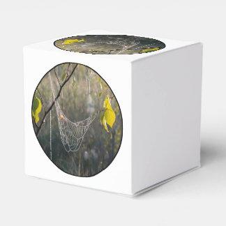 Spiderwebs colgantes cajas para detalles de boda