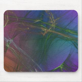 Spiderwebs colorido abstracto tapete de ratones