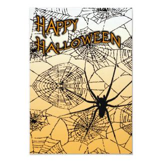 spiderwebs del feliz Halloween Invitacion Personal