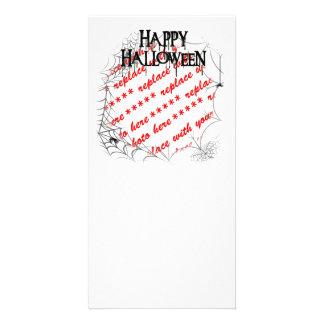 Spiderwebs in the Corner Halloween Photo Frame Photo Card Template