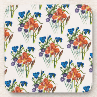 Spiderwort and Daylily Drink Coaster