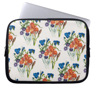 Spiderwort and Daylily Laptop Sleeve