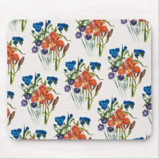 Spiderwort and Daylily Mouse Pad