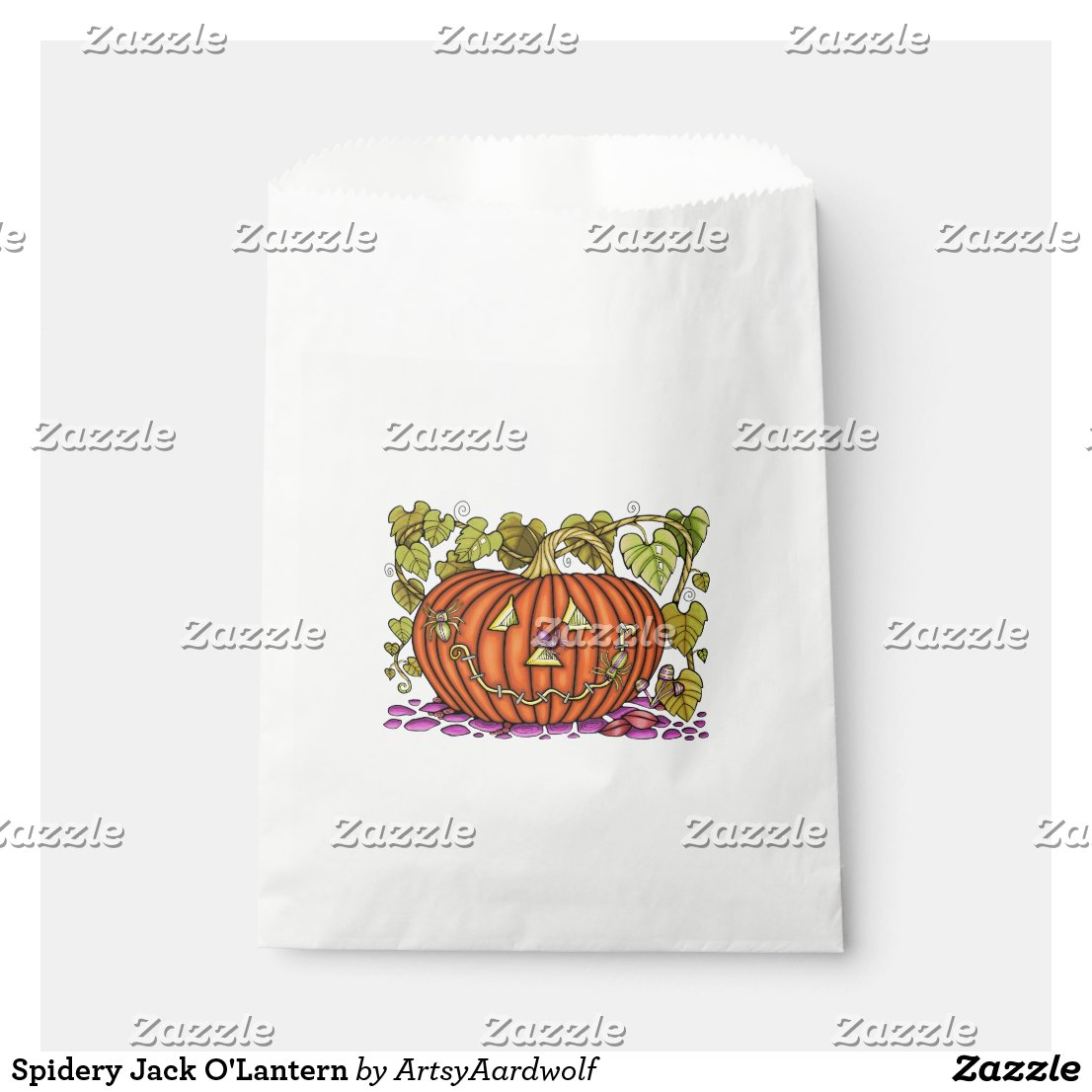 Spidery Jack O'Lantern Favor Bag