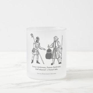 Spideryeoman (mug) frosted glass coffee mug