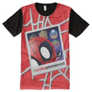 #spideyphotobomb Spider-Man Emoji All-Over-Print T-Shirt