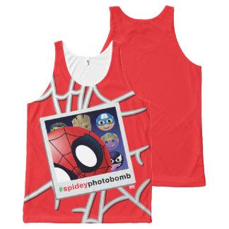 #spideyphotobomb Spider-Man Emoji All-Over-Print Tank Top