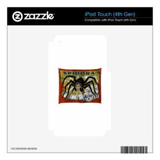 Spidora iPod Touch 4G Calcomanía