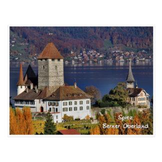 Spiez Castle, Switzerland / Schloss Spiez, Schweiz Postcard
