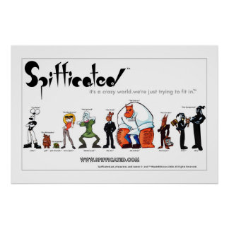 Spifficated Character Line Up Poster
