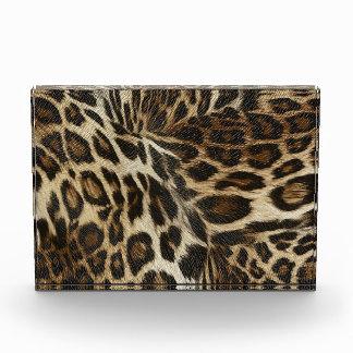 Spiffy Leopard Spots Leather Grain Look Acrylic Award