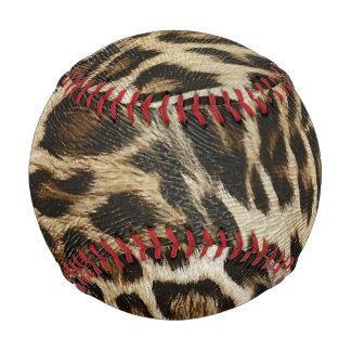 Spiffy Leopard Spots Leather Grain Look Baseball
