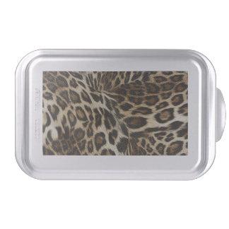 Spiffy Leopard Spots Leather Grain Look Cake Pan