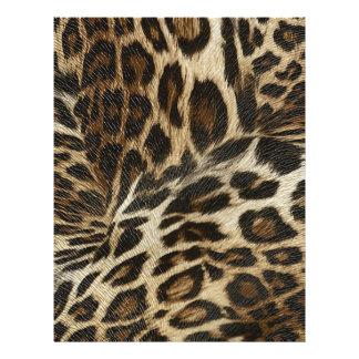 Spiffy Leopard Spots Leather Grain Look Flyer
