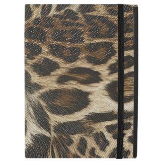 """Spiffy Leopard Spots Leather Grain Look iPad Pro 12.9"""" Case"""