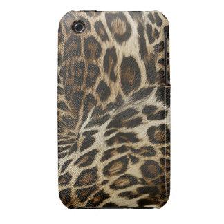 Spiffy Leopard Spots Leather Grain Look iPhone 3 Case-Mate Case