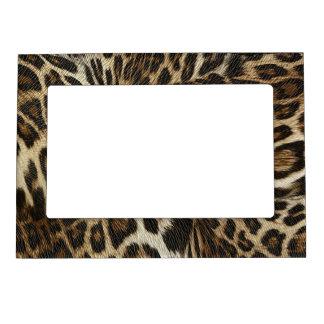 Spiffy Leopard Spots Leather Grain Look Magnetic Photo Frame
