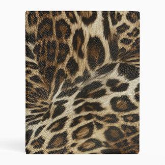 Spiffy Leopard Spots Leather Grain Look Mini Binder