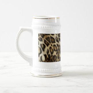 Spiffy Leopard Spots Leather Grain Look 18 Oz Beer Stein