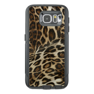 Spiffy Leopard Spots Leather Grain Look OtterBox Samsung Galaxy S6 Case