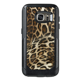 Spiffy Leopard Spots Leather Grain Look OtterBox Samsung Galaxy S7 Case