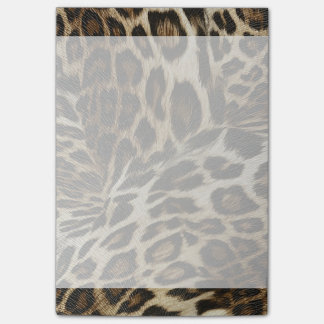 Spiffy Leopard Spots Leather Grain Look Post-it® Notes