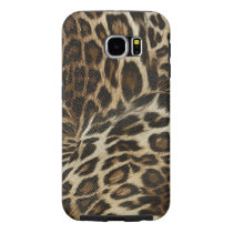 Spiffy Leopard Spots Leather Grain Look Samsung Galaxy S6 Case