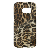 Spiffy Leopard Spots Leather Grain Look Samsung Galaxy S7 Case