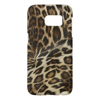 Spiffy Leopard Spots Leather Grain Look Samsung Galaxy S7 Case
