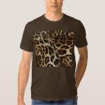 Spiffy Leopard Spots Leather Grain Look Shirt