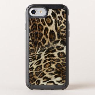 Spiffy Leopard Spots Leather Grain Look Speck iPhone Case