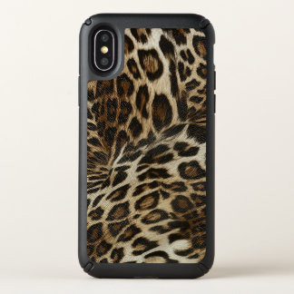 Spiffy Leopard Spots Leather Grain Look Speck iPhone X Case