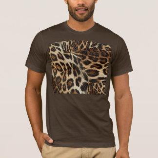 Spiffy Leopard Spots Leather Grain Look T-Shirt