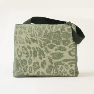 Spiffy Leopard Spots Leather Grain Look Tote