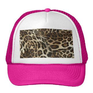 Spiffy Leopard Spots Leather Grain Look Trucker Hat