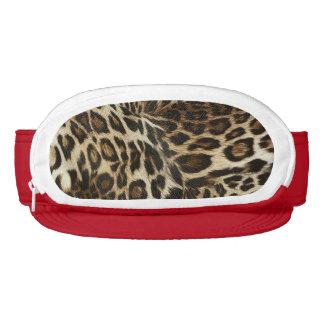 Spiffy Leopard Spots Leather Grain Look Visor