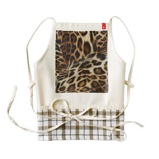Spiffy Leopard Spots Leather Grain Look Zazzle HEART Apron